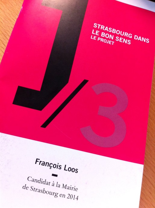 François Loos sort le premier de trois opus pour exposer son programme en vue des élections municipales de mars 2014 (Photo MM / Rue89 Strasbourg)