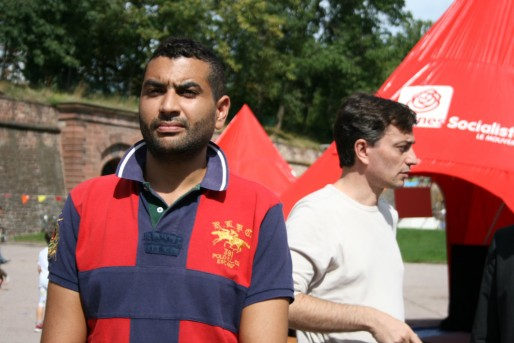Paul Meyer (aile gauche du PS) et Alain Fontanel (proche du maire), au coude à coude pour faire barrage aux ambitions du clan Bies (Photo MM / Rue89 Strasbourg)