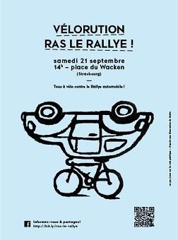 Vélorution samedi contre le rallye automobile