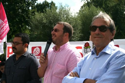 Syamak Agha Babaei, Mathieu Cahn et Roland Ries - Fête de la rose 2013 à la Citadelle (Photo MM / Rue89 Strasbourg)