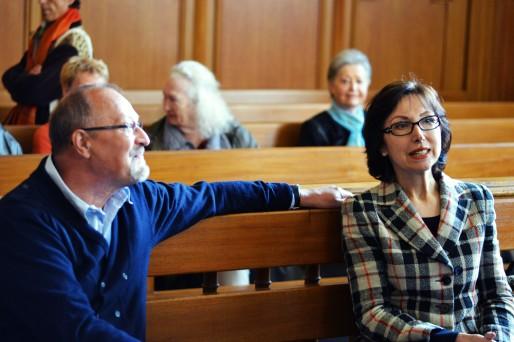 Viviane Schaller et Bernard Christophe ne sont restés que quelques minutes dans la salle d'audience ce matin (Photo AB / Rue89 Strasbourg)
