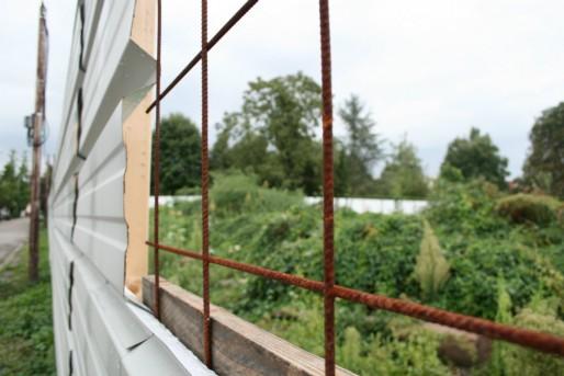 L'ancien petit bois de la route de la Wantzenau a été défriché, les travaux de l'école européenne démarrent dans quelques semaines (Photo MM / Rue89 Strasbourg)