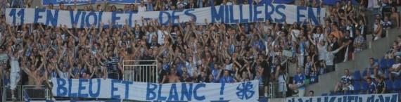 Le nouveau maillot du Racing Club de Strasbourg suscite des réactions diverses. (Photo Denis Beylet / Racingstub)