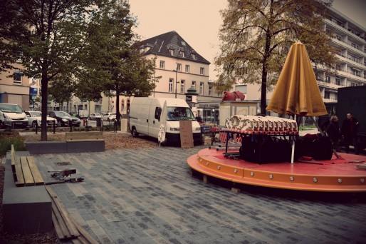 Avec le mobilier urbain, plus de place pour mettre un grand carrousel (Photo AB / Rue89 Strasbourg)