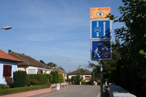 Les tranquilles rues d'Ohnheim. Trop tranquilles ? (Photo PF / Rue89 Strasbourg / cc)