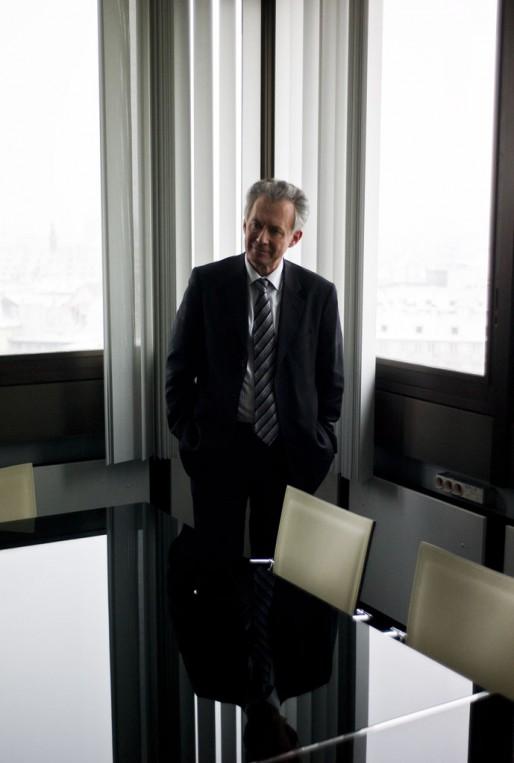 Jacques Bigot, président de la communauté urbaine de Strasbourg - Strasbourg, 8 janvier 2010 (Photo Pascal Bastien)