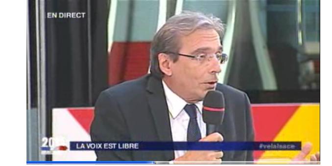 Roland Ries défend son bilan sur France3 Alsace