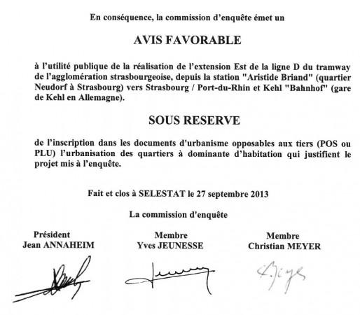 Extraits du rapport d'enquête publique (doc Rue89 Strasbourg)
