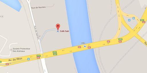 Sati, en contrebas de la RN4 (doc Google Maps)