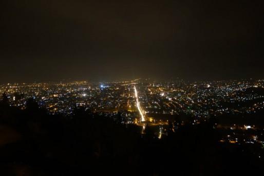 Vu de Gorgan la nuit, soirée réussie (photo Pierre AUGE)