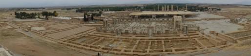 La vue panorama permet de visualiser l'entièreté de Persépolis (Photo Pierre AUGE)