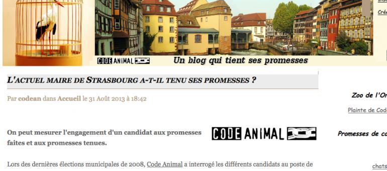 Code animal évalue les promesses de Roland Ries