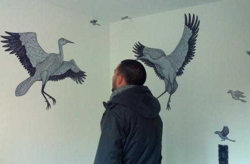 La volière de la chambre décorée par Mo Barroux (Photo PF / Rue89 Strasbourg / cc)