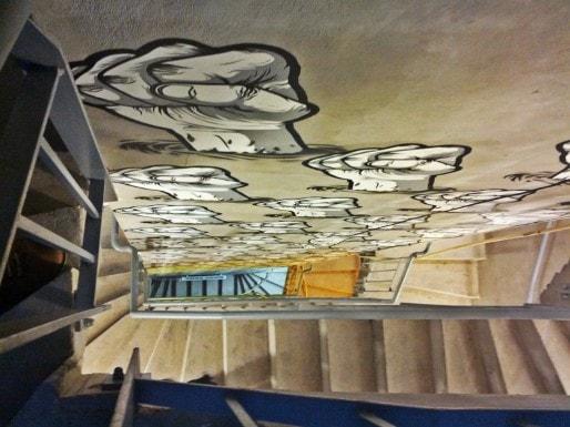 L'escalier du Graffalgar, réalisé par Chifoumi (Photo PF / Rue89 Strasbourg / cc)