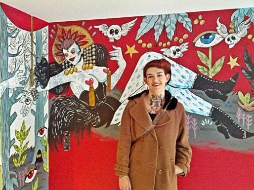 La fresque réalisée par Marie Meier est la plus colorée et la plus osée disponible (Photo PF / Rue89 Strasbourg / cc)