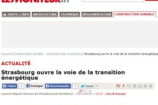 Strasbourg ouvre la voie de la transition énergétique