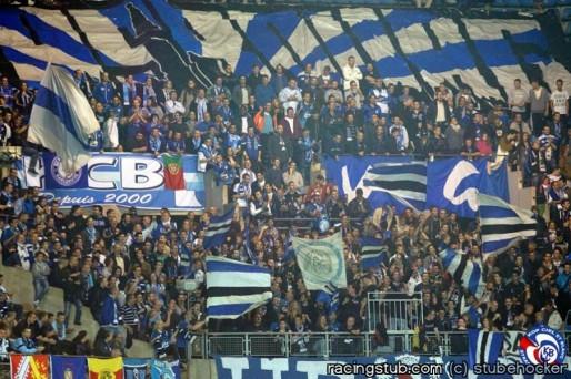 Le kop toujours fidèle, ici contre Luzenac (photo : Racingstub).
