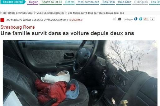Une famille de Roms survit dans sa voiture depuis deux ans
