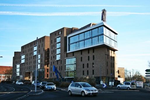 La résidence Le Grand Angle est située au carrefour de l'avenue du Rhin et de l'avenue Aristide-Briand (Photo MM / Rue89 Strasbourg)