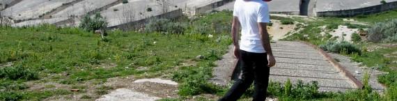 """Raphaël Zarka, Cretto, 2005. Vidéo couleur sonore. Durée : 6'45"""". Collection Frac Alsace. © Raphaël Zarka / Vue de tournage : Cecilia Becanovic. Visible à Haguenau."""