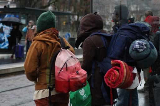 20 000 jeunes arrivent le 28 décembre à Strasbourg, tous seront logés entre l'Alsace et le Bade-Wurtemberg. (Photo JR / Rue89 Strasbourg)