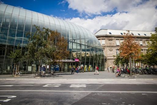 La gare de Strasbourg, côté centre-ville (Photo Renzo Stanley / Flickr / Cc)