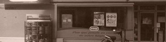 Le magasin Coop du Faubourg National à Strasbourg, avant sa transformation (Photo PF / Rue89 Strasbourg / cc)