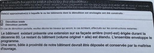 Extrait du permis de démolir  du 19 décembre 2013 (doc EJ / Rue89 Strasbourg)
