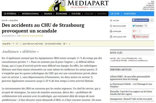 Des accidents au CHU de Hautepierre provoquent un scandale