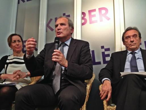 François Loos, Fabienne Keller et Roland Ries lors du débat à la librairie Kléber.
