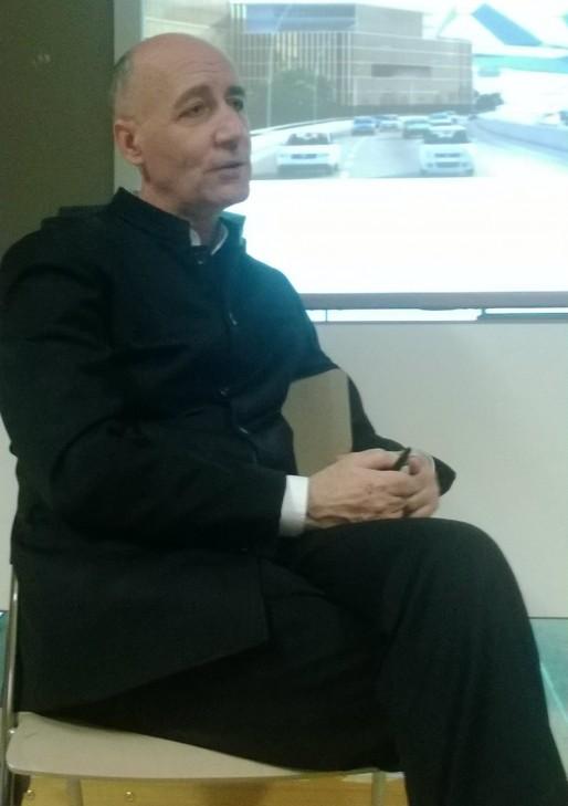 Nicolas Michelin, architecte urbaniste en charge du projet BNU Nouvelle (Photo CF/ Rue89 Strasbourg)