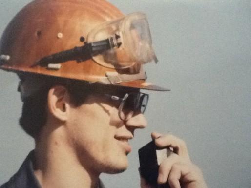 Eric Haennel à ses débuts à la raffinerie, fin des années 80