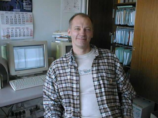 Robert Nagel dans son bureau à la raffinerie de Reichstett
