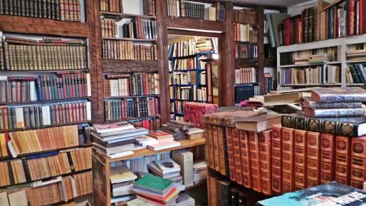 Au Coin littéraire, librairie de livres d'occasion, quai de Turckheim dans le quartier gare (Photo CF/Rue89 Strasbourg)
