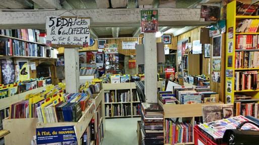 Farfafouilles, librairies de BD d'occasion, place Saint-Etienne, au centre-ville de Strasbourg (Photo CF/ Rue89 Strasbourg)