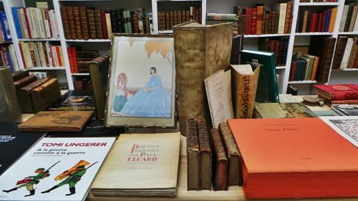 La Jument verte, librairie de livres rares, rue des Juifs au centre-ville de Strasbourg (Photo CF/Rue89 Strasbourg)