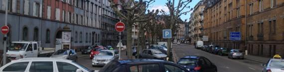 La voiture est toujours la reine du boulevard de Lyon (R. Fausser)