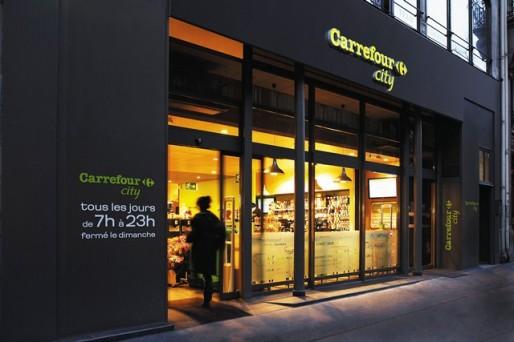 Les devantures des Coop devraient rejoindre le look des magasins Carrefour City (Photo Carrefour Proximité)