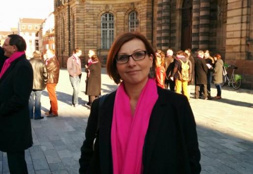 Christel Kohler, cadre à l'Aspa et 26e sur la liste de Roland Ries (Photo PF / Rue89 Strasbourg / cc)