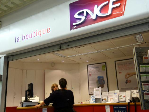 La boutique SNCF de Schiltigheim fermera ses portes le 1 août 2014, au grand regret des riverains. (Photo T.T / Rue89 Strasbourg)