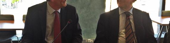 """Robert Herrmann et Yves Bur ont conclu un """"mariage à l'essai"""" à la CUS (Photo MM / Rue89 Strasbourg)"""