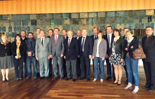 Robert Herrmann (PS) et ses vice-présidents de la CUS (Photo MM / Rue89 Strasbourg)