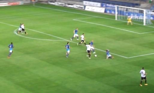 Match du Racing contre Bourg Péronnas (capture d'écran)