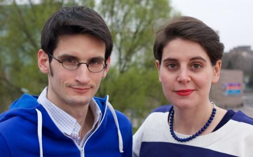 Baptiste Cogitore est journaliste reporter, contributeur régulier à Rue89-Strasbourg. Claire Audhuy, auteure et metteure en scène, a fondé le collectif Rodéo d'âme en 2004. ©LeBonQuentin