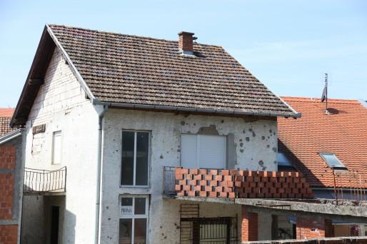 A Vukovar, les stigmates de la guerre sont encore bien présents (Photo BC / Rue89 Strasbourg)