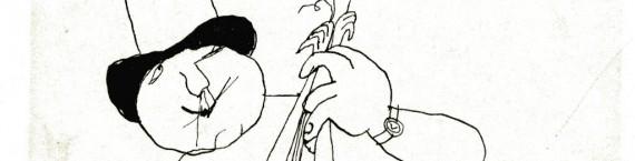 Tomi Ungerer, sans titre, dessin pour Les Carnets secrets de Tomi Ungerer, 1964. Encre de Chine sur papier. Collection Musée Tomi Ungerer – Centre international de l'Illustration, Strasbourg © Diogenes Verlag AG Zürich \ Tomi Ungerer. Photos : Musées de Strasbourg/Mathieu Bertola