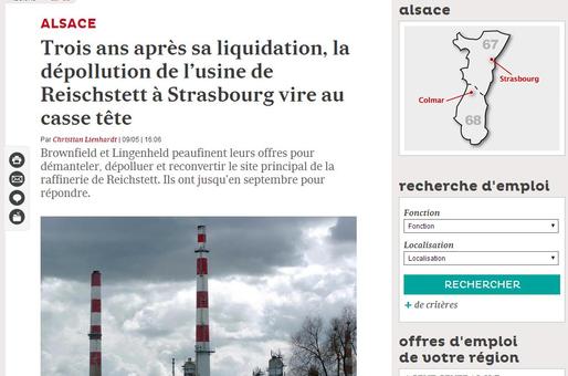 La dépollution de l'usine de Reischstett vire au casse tête