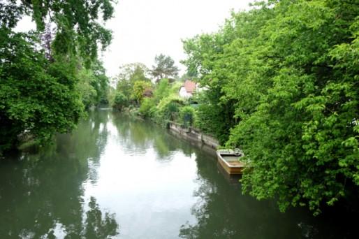 La propriété Schranz se trouve non loin du Rhin Tortu.