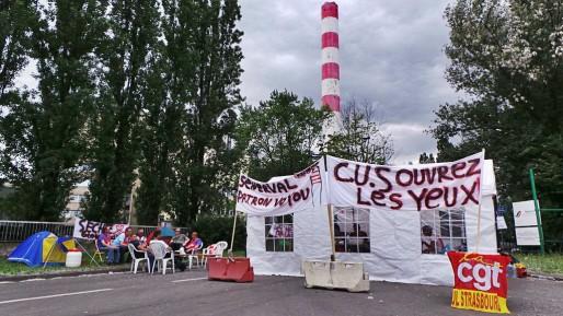 Les salariés entament leur 60e jour de grève... (Photo PF / Rue89 Strasbourg)