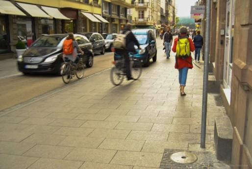 La difficile cohabitation rue du maire Kuss (photo G. Grieshaber)